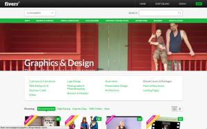 "Click ""Graphic's & Design"""